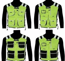MOTORCYCLE CYCLE SECURITY WATER RESISTANT HI VIZ VEST WAISTCOAT  4 TYPE OF HIYIZ
