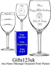 Personalised 11oz Wine Glass,Birthday Gift,18th 21st 30th 40th 50th 60th 70th