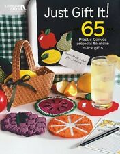 Plastic Canvas Pattern Book JUST GIFT IT ~ 65 Quick Projects Coasters, Magnets +