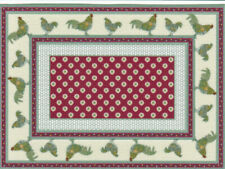 "Dollhouse Miniature Country Rooster Accent Rug  5 1/2"" x 4"" RG165"