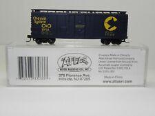ATLAS N C&O CHESSIE SYSTEM 40' PLUG DOOR BOXCAR 23732; #33033 NIB