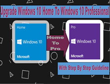 MICROSOFT WINDOWS 10 HOME TO 10 PRO PROFESSIONAL UPGRADE LICENCE KEY 32/64