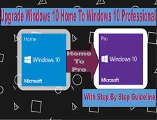 MICROSOFT WINDOWS 10 HOME TO 10 PRO PROFESSIONAL UPGRADE LICENCE KEY 32/64
