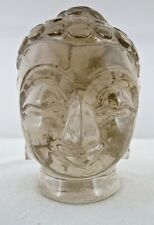 AMAZING 2730CTS NATURAL SMOKY QUARTZ BUDDHA HEAD GEMSTONE STATUE FOR HOME DECOR