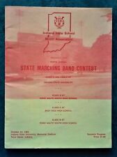 1982 Indiana state marching band contest souvenir program