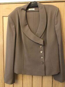 Kaliko Womens Size 18 Light Brown Wide Leg Trouser Suit. Excellent Condition