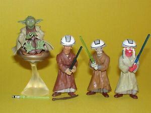 Star Wars Saga 2003 Yoda, Ashla, Jempa, & Chian Loose