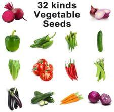 32Kinds Vegetable seeds for garden plant(2 kinds/set please read Description