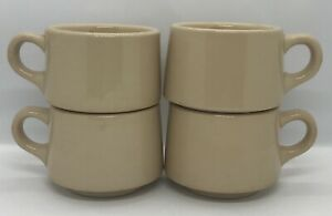 Vintage 1959 Shenango China Rimrol Wellroc Restaurant Ware Set Of 4 Coffee Cups