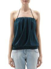 PATRIZIA PEPE Top Sarah Bluse Shirt business Hemd Farbe Petrol  Gr. 36
