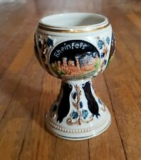 """Vintage Germany Painted Wine Goblet, 5.5"""" tall"""