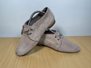 Clarks Narrative Beige Suede Lace Up Shoes Size UK 7.5 EUR 41.5