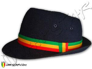 Chapeau Rasta Reggae Roots Cappello Gorro Hat Fedora Trilby R&B
