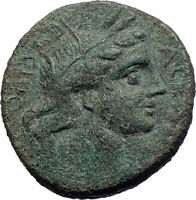 AKRAGAS in SICILY Authentic Ancient after 208BC Greek Coin KORE ASCLEPIUS i73540