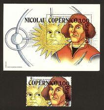 BRAZIL stamp 1973 500th Anniversary Nicolaus Copernicus Scott# 1301 RHM B-34