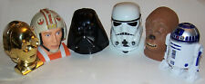 Lot of Star Wars Micro Machines Head Playsets w/ Multiple Accessories & Figures
