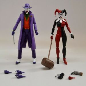 DC Collectibles Icons Joker and Harley Quinn action figures OOP near complete