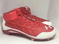 Under Armour Authentic Baseball Cleats 1248197-611Compfit Red/White Size 16 NEW