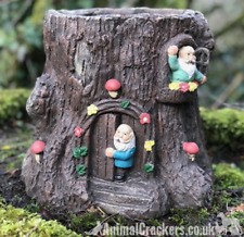 Gnome Tree Stump heavy garden Planter decoration ornament gnome lover gift
