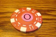 """ O "" Monogram Dice design Poker Chip,Golf Ball Marker,Card Guard Red/White"