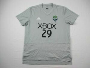 Seattle Sounders FC adidas Practice Jersey Men's Gray Poly Used Multiple Sizes