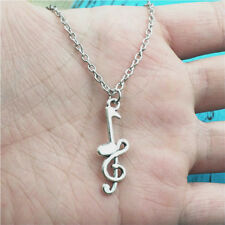 New music note silver Necklace pendants fashion jewelry accessory,creative Gifts