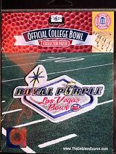 NCAA College Football Royal Purple Las Vegas Bowl Patch 2013/14 Fresno State USC