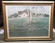 """Ray Swanson Lithograph """"Spring"""" Framed 24"""" Tall 30"""" Wide"""
