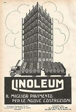 W7858 LINOLEUM il pavimento per le nuove costruzioni - Pubblicità del 1929 - Ad