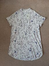 Anna Glover H&M Woman Light Grwy Floral Dress Sise 12 Uk New Oversized
