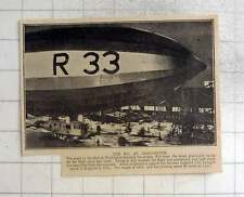 1925 The R 33 At Cardington, In Shed, 45 Mph Cruising Speed