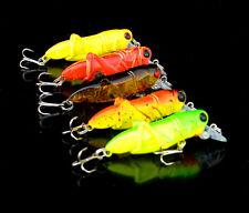 5pcs Lot Minnow Fishing Lures Locust Baits Grasshopper Cricket Tackle 3.5g/5.5cm