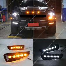 For Ford Ranger Raptor F150 2017-2018 LED DRL Daytime Running Lights Fog Lamps