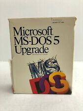 "Microsoft MS-DOS 5 Upgrade PC 5.25"" Floppy Vtg Software FILM PROP Computer 90s"