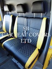 TO FIT A MERCEDES SPRINTER VAN, SEAT COVERS, ROSSINI DIAMOND YELLOW LEATHERETTE