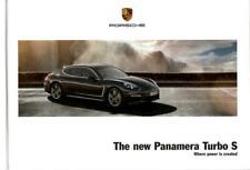Porsche Panamera Turbo S brochure 2013 book 54 pages