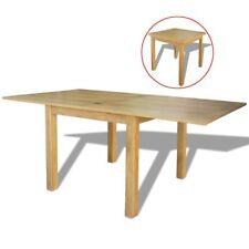 vidaXL Oak Wood Extendable Table Kitchen Dining Room Furniture 85/170x85x75cm