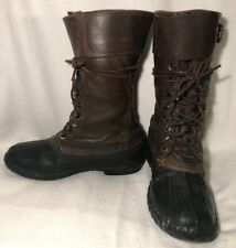 VTG 1950's Mens Sz: 7.5 or Womens 8.5 Rubber Sole'd w/ Leather Uppers Boots!