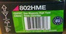Original Lexmark 80C2HME 802HME 80C2HM0 802HM Tóner Magenta CX410 CX510