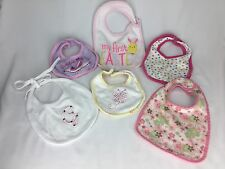 6 Girl Bibs Assorted Brands: My First Easter / Georgia Girl / Princess / Plus