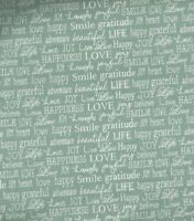 Tiny words turquoise words to live by Contempo fabric