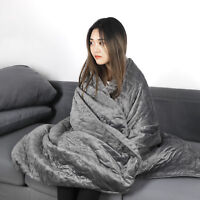 Anxiety Weighted Blanket For Adults Fit to Queen Size or Full Size W/ Cover