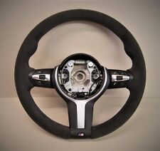 BMW F15 X5  - steering wheel retrimming service - tri colour stitching