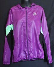 ROCKWEAR ~ Purple Check & Neon Green Long Sleeve Hooded Warm Up Jacket 10