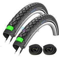 2 x Schwalbe Marathon 16 x 1.35 Bike / Cycle Tyres 35-349 with Schrader Tube