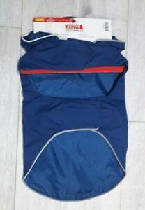 Kong Outerwear PACKABLE Rain Jacket MEDIUM Dog Coat (BLUE)