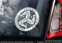 MANX Triskelion - Car Window Sticker - Isle Of Man 3 Three Leg Symbol Crest TT