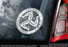 Manx Triskelion-Voiture Fenêtre Autocollant-ISLE of MAN 3 Trois Jambe Symbole Crest TT