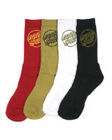 Santa Cruz Socks 4 Pack POP MONO ASST Crew Size 7-11 Skateboard Sox