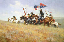 Howard Terpning FLAGS ON THE FRONTIER (43x28½) giclee canvas #2/65